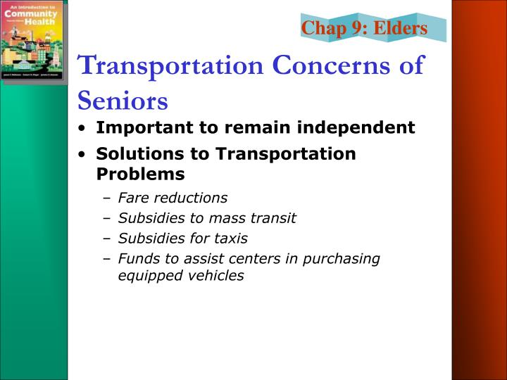Transportation Concerns of Seniors