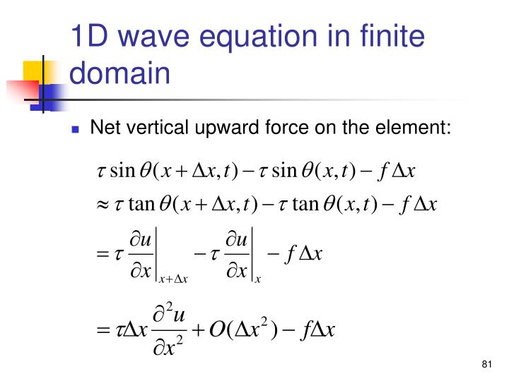1D wave equation in finite domain