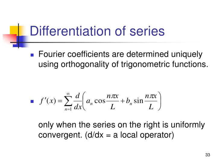 Differentiation of series