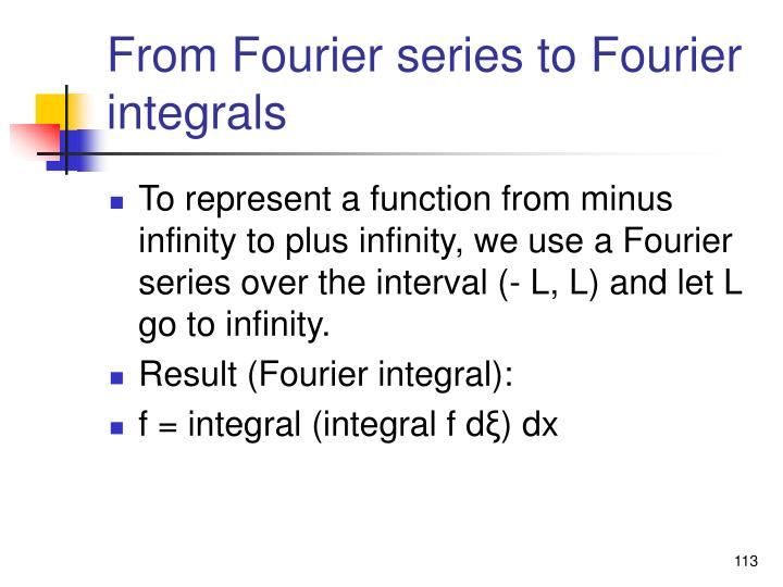 From Fourier series to Fourier integrals