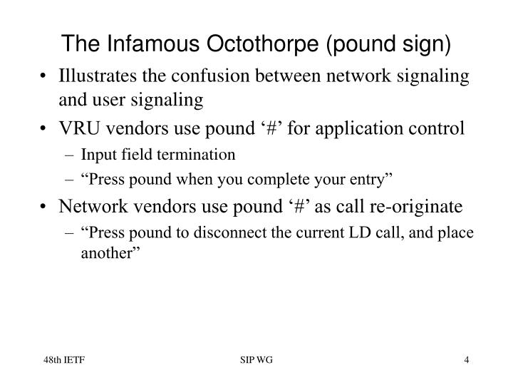 The Infamous Octothorpe (pound sign)