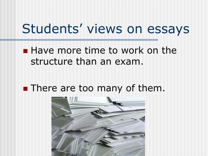 Students' views on essays