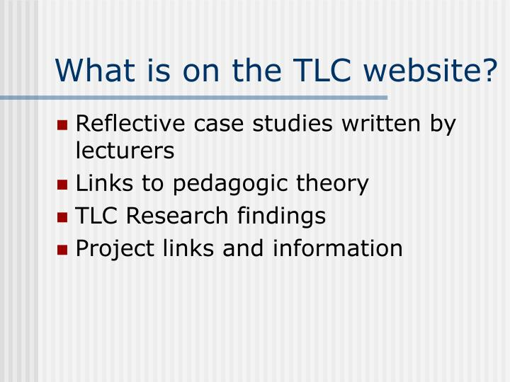 What is on the TLC website?