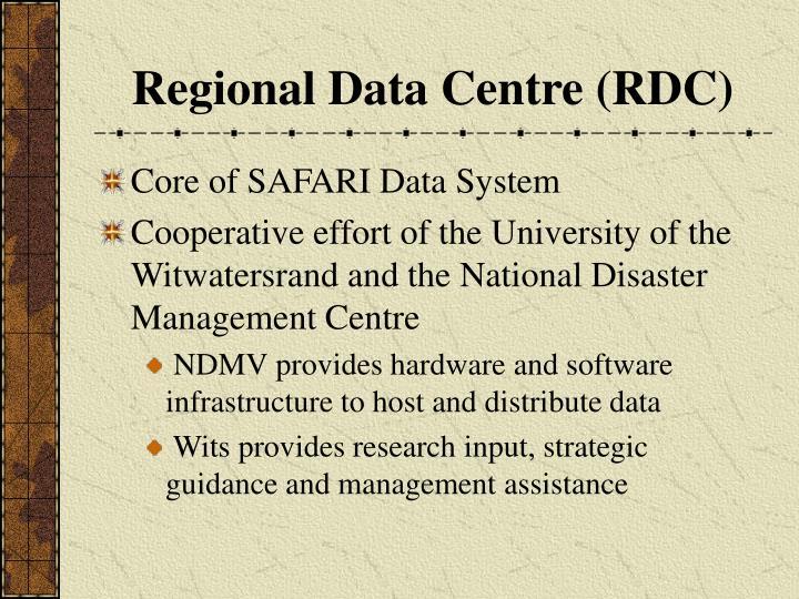 Regional Data Centre (RDC)