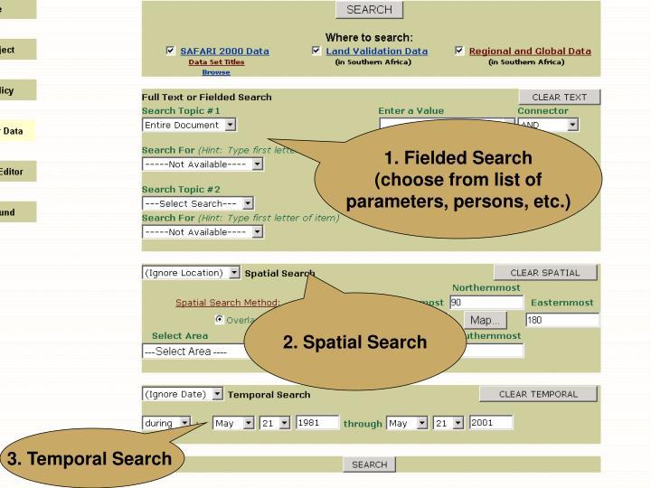 1. Fielded Search