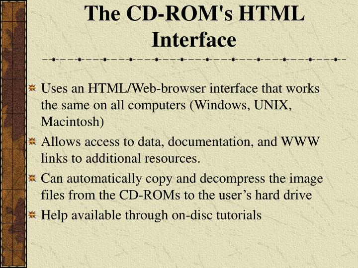 The CD-ROM's HTML Interface