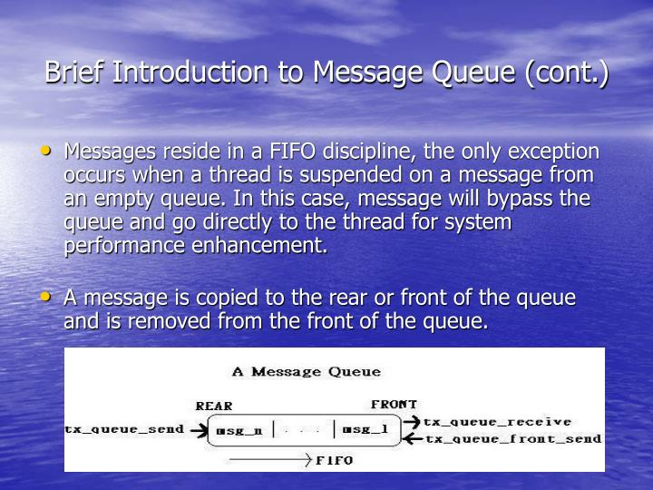 Brief Introduction to Message Queue (cont.)