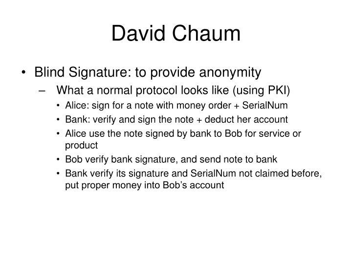David Chaum