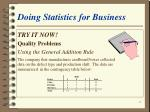 doing statistics for business10