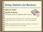 doing statistics for business12