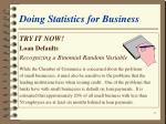 doing statistics for business21
