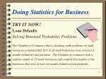 doing statistics for business23