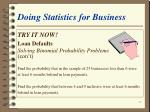 doing statistics for business25