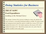 doing statistics for business39