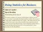 doing statistics for business41