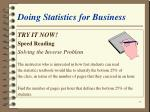 doing statistics for business53