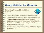 doing statistics for business54