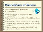 doing statistics for business55