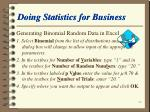 doing statistics for business58