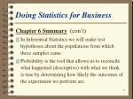 doing statistics for business62