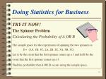 doing statistics for business8