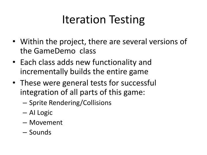 Iteration Testing