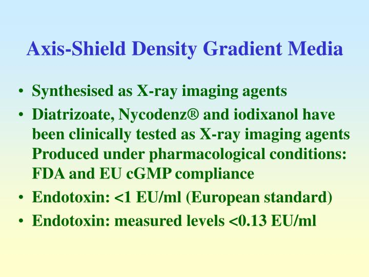 Axis-Shield Density Gradient Media