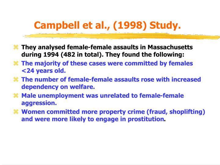 Campbell et al., (1998) Study.