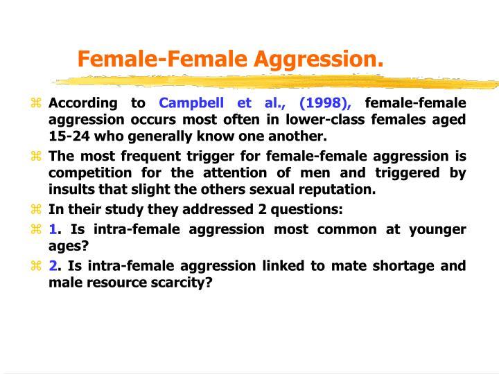 Female-Female Aggression.