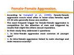 female female aggression