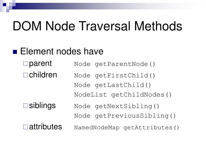 DOM Node Traversal Methods