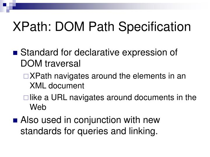 XPath: DOM Path Specification