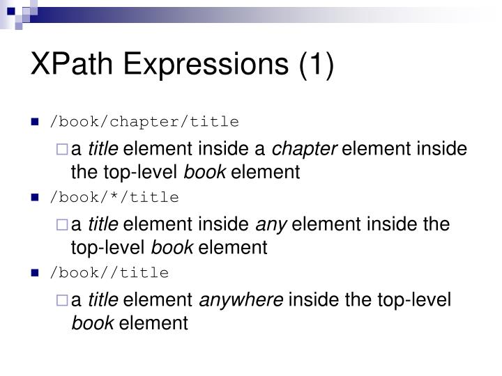 XPath Expressions (1)
