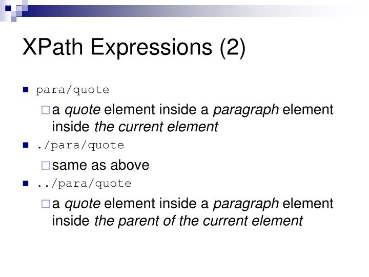 XPath Expressions (2)