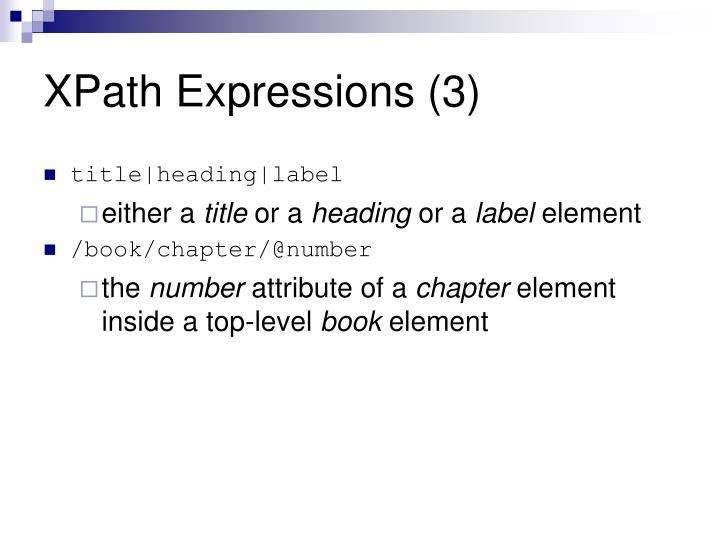 XPath Expressions (3)