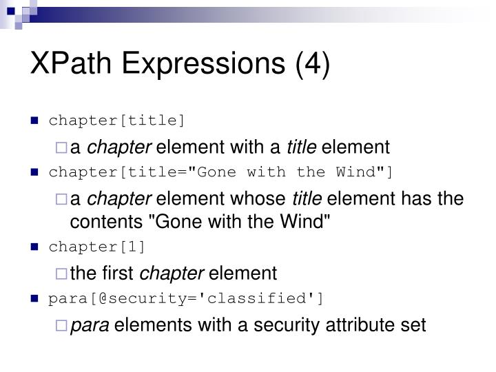 XPath Expressions (4)