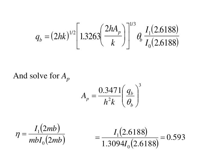And solve for