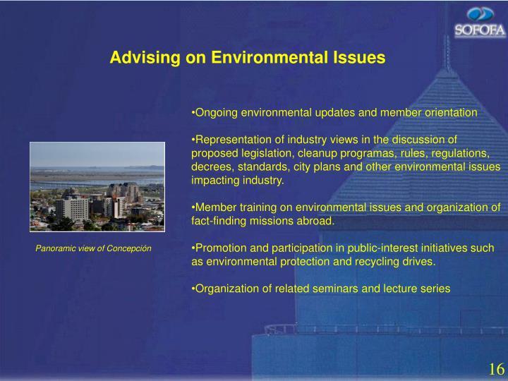 Advising on Environmental Issues