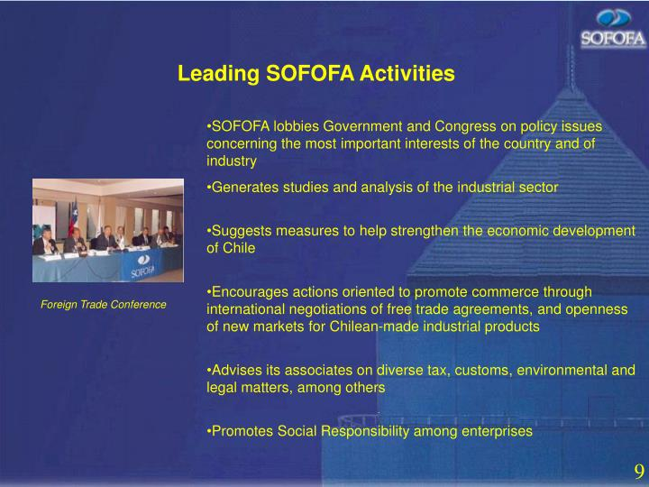 Leading SOFOFA Activities