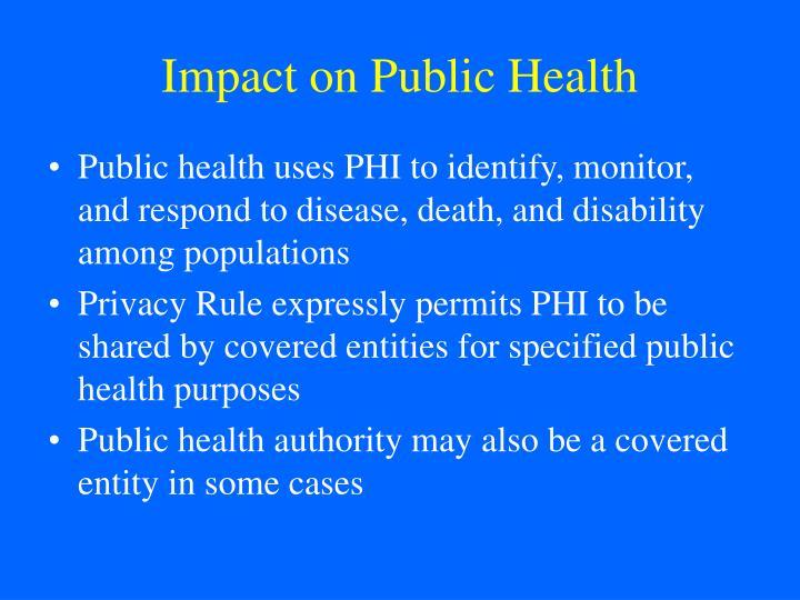 Impact on Public Health