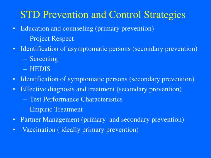 STD Prevention and Control Strategies