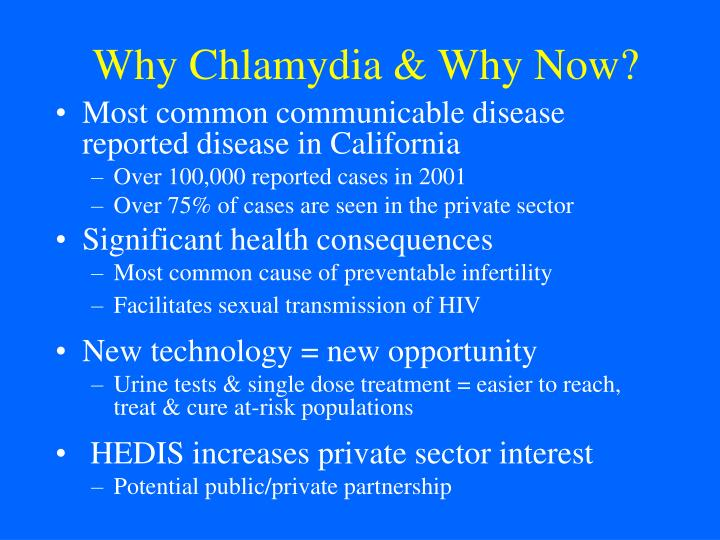 Why Chlamydia & Why Now?