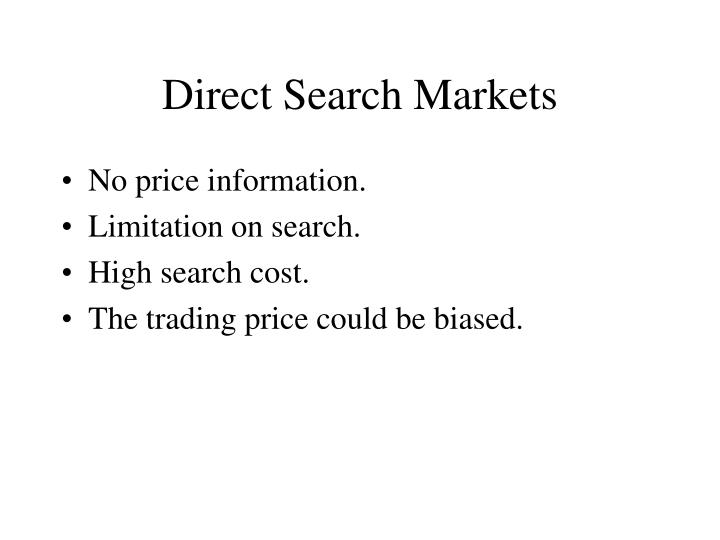 Direct Search Markets