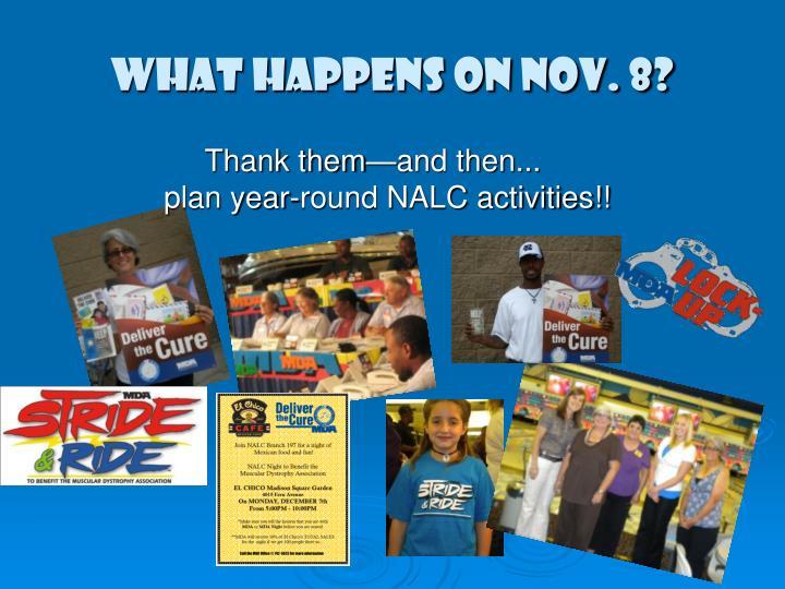 What happens on Nov. 8?