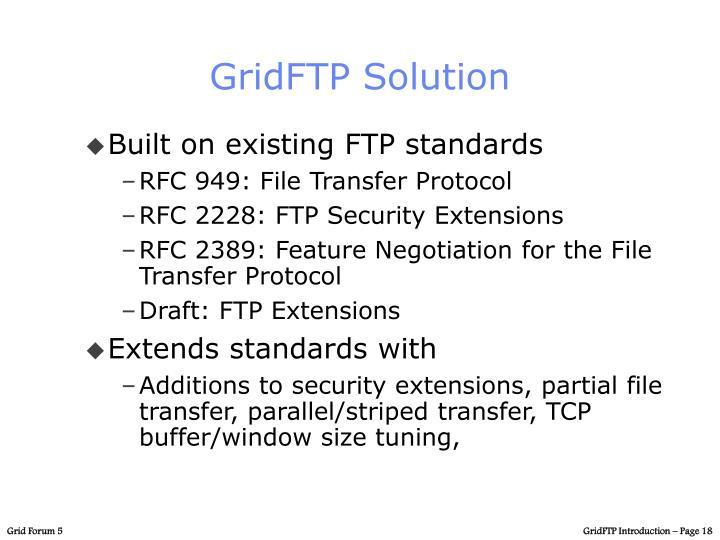 GridFTP Solution