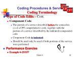 coding procedures services coding terminology7