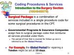 coding procedures services introduction to the surgery section 10040 6997911