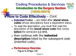 coding procedures services introduction to the surgery section 10040 699795