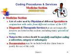 coding procedures services medicine section 90000 99199