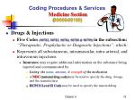 coding procedures services medicine section 90000 991991